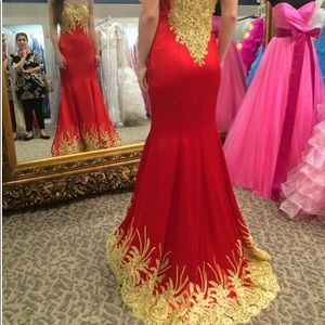 Red Gold Size 2 Formalwear, prom,  $350.